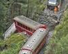 Поезд с туристами упал в овраг