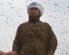 Китайца облепили 460 тысяч пчел весом более 45 килограммов