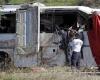 Восемь пассажиров, в том числе беременная женщина, погибли при аварии автобуса