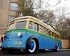Автопробег ретро-троллейбусов улицами Москвы
