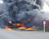 В Канаде загорелся грузовой состав с токсичными веществами