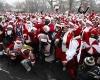 Многотысячный фестиваль  Санта Клаусов SantaCon